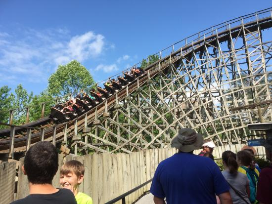 Dollywood's Thunderhead ride from waiting line - Picture of