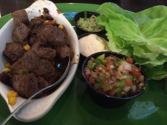 Dilworth, MN: Lettuce wrap with beef