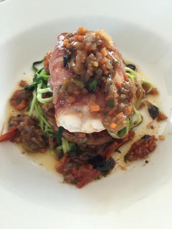 The Anchorage Restaurant: Monk Fish wrapped in parma ham with provencal sauce