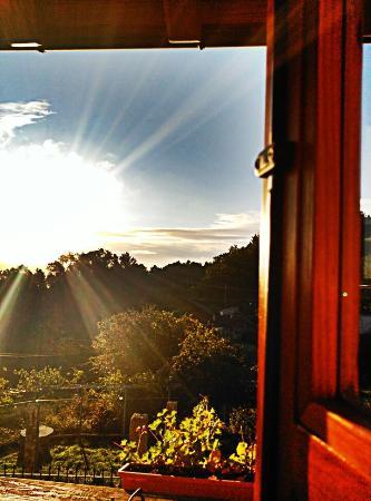 Casa da Solaina: Al alba desde la habitación Torre