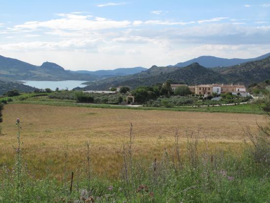 View of Cortijo Salinas and Zahara lake