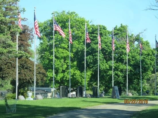 Coldwater, MI: Soldiers memorial in the southern cemetery.