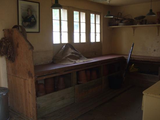 Hampshire, UK: Potting shed including the boss' portrait