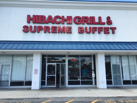 Hibachi Grill and Supreme Buffet: Sign outside can be seen on International Drive