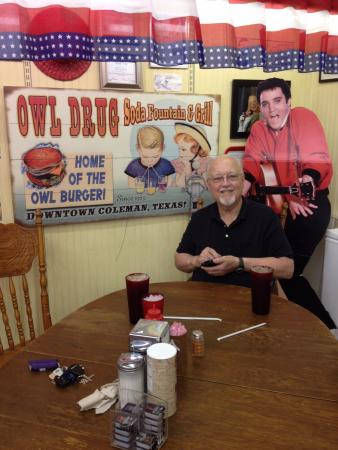 Coleman, TX: At the big table with Elvis