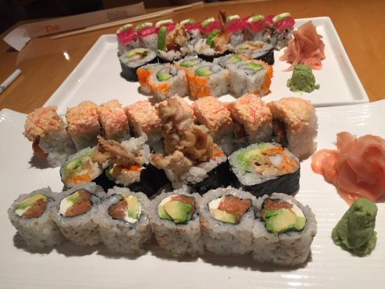 Excellent sushi but oh my lord the service ...