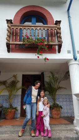 Hacienda Cusin: Entrada del comedor