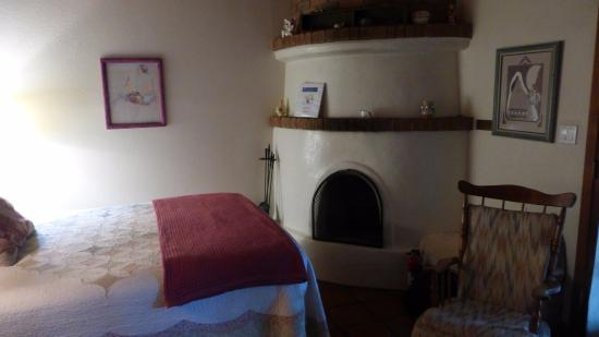 Algodones, NM: Our room with fireplace.