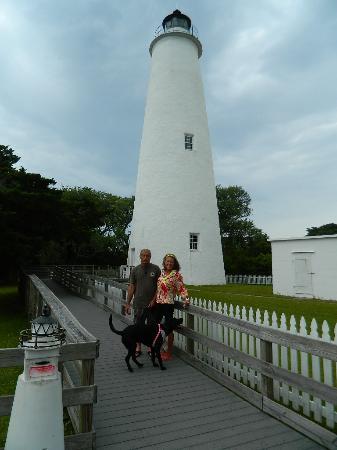 Ocracoke Lighthouse: Rainy day on Ocracoke