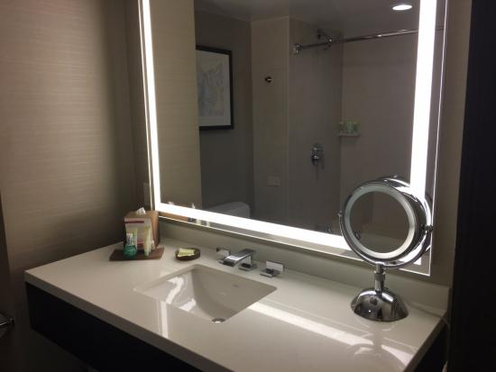 Bathroom Sink Area In The Corner King Suite Room Picture Of Grand Hyatt Denver Tripadvisor