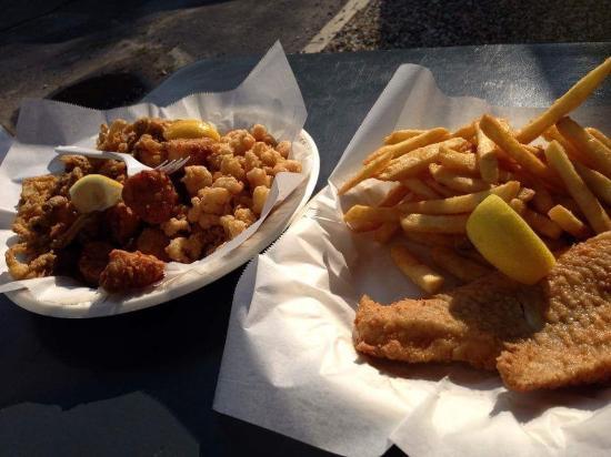 Fisherman's Catch: Large Seafood Platter. Haddock, clams, shrimp, scallops.