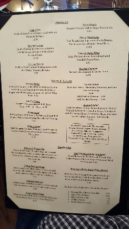 The Rancher's Steak and Seafood : Menu