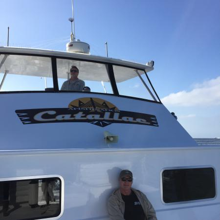 Inside the boat picture of afishinados charters avalon for Catalina island fishing charters