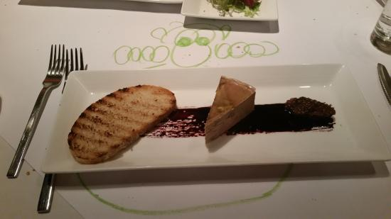 Angus Grill (Crowne Plaza Beijing Wangfujing): Fois gras with crayon drawing