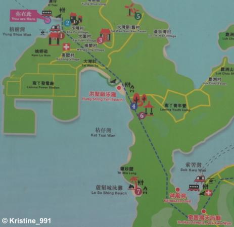 Map Lamma Island Map of Lamma Island Trail   Picture of Lamma Island, Hong Kong