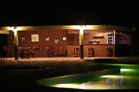 Nsya Lodge & Camp: Pool at Night