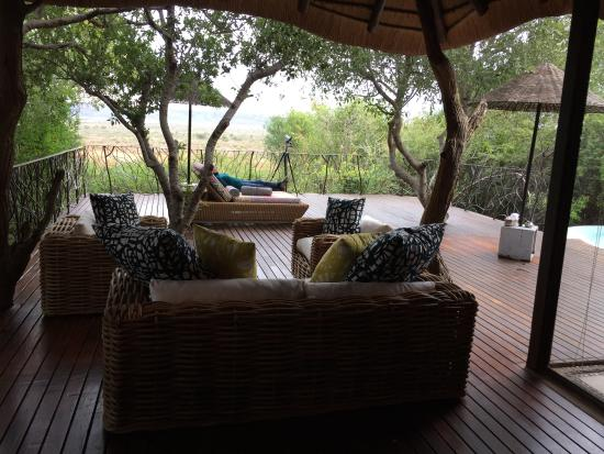 Madikwe Game Reserve, Sudáfrica: Private deck over looking reserve