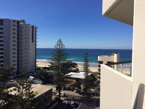 Surfers Beachside Holiday Apartments: View from balcony