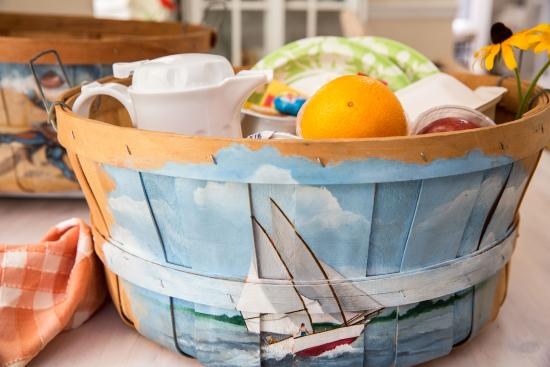 Sandaway Waterfront Lodging: Daily Breakfast Basket, Delivered to Your Room