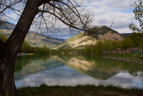 Le Lac Bleu : Reflets dans le lac