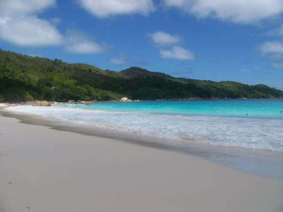Praslin Island, Seychelles: Another view with white sands and blue seas
