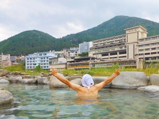 Gero Onsen : 河原の露天風呂がサイコー♪