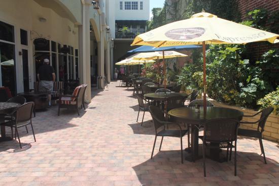 Zi S Italian Garden Restaurant Patio Seating Area