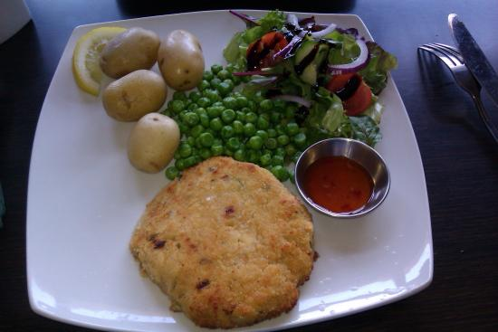 The Angel: Homemade Spicy Fishcake from the Special Board.