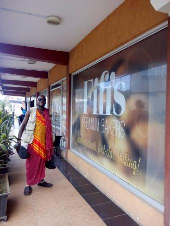 My friend Outside the Fifi's,on April 2016