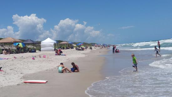 Canaveral National Seashore: Stretch of beach north