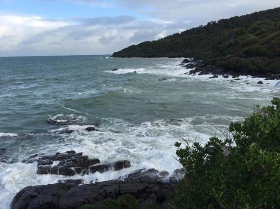 Bluff, Nueva Zelanda: Crashing surf