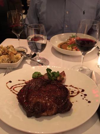 Delmonico steak was excellent