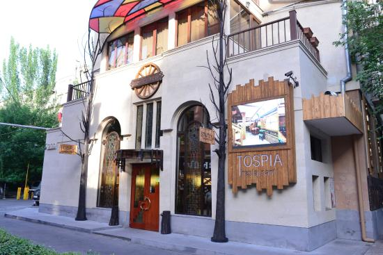 Tospia Restaurant The Beautiful Entrance Of
