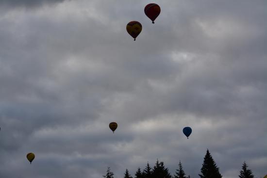 Νιούμπεργκ, Όρεγκον: Seven balloons in the air on this day. Smooth flying.