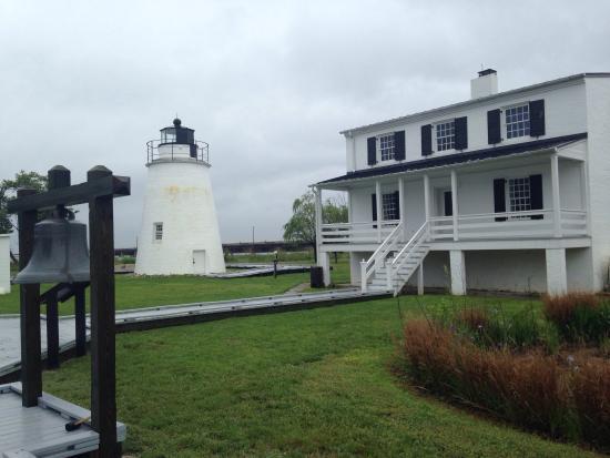 Piney Point Lighthouse: Neat little light house.