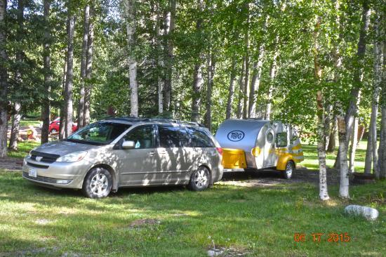 Tetsa River Lodge: Campsite at Tetsa River