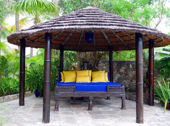 Rock House: I call this the party bed at poolside