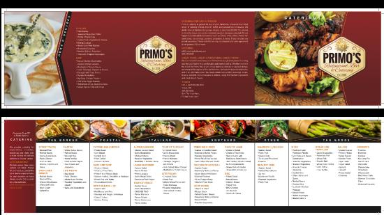 primo s restaurant bar catering catering brochure