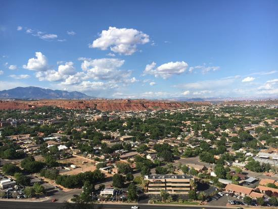 View From Outdoor Patio Of Cliffside Restaurant St George Ut