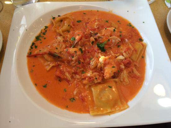 Allentown, NJ: Lobster shrimp ravioli with vodka sauce special