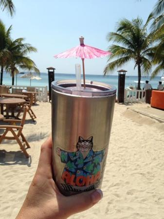 Tropical Drink In A Paradise Bring An Insulated Cup To