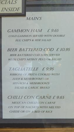 White Hart: Rice or Nachos, no mention of chips!