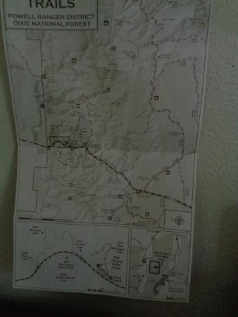 Panguitch, Γιούτα: Trails Map you can get from Visitors Center