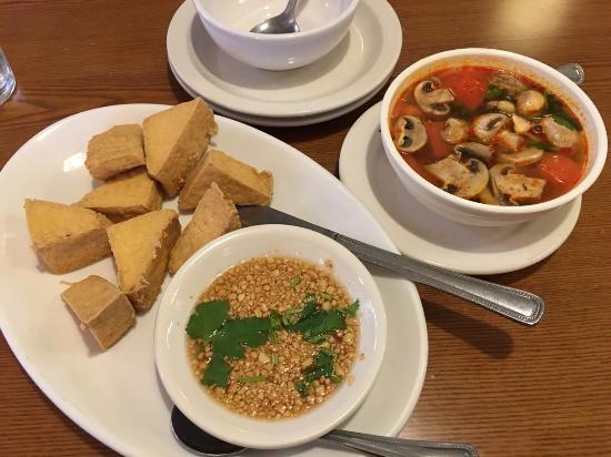 Bangkok Kitchen: Fried Tofu and Tom Yum Soup - Picture of Bangkok ...