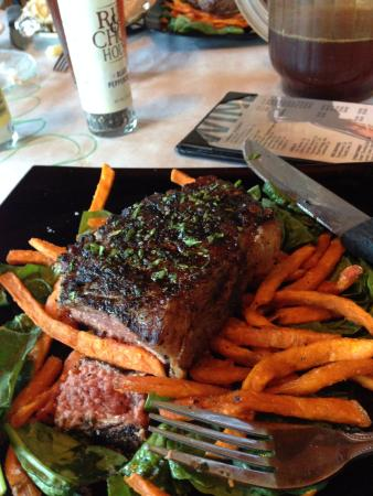 Miles City, MT: Steak marinated with coffee and bourbon