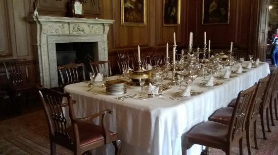 Lyme Park Beautifully set table in the dining room & Beautifully set table in the dining room - Picture of Lyme Park ...