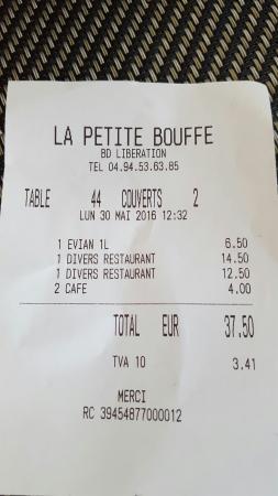 La Petite Bouffe : Bouteille d'eau 1L en plastique à 6,50€