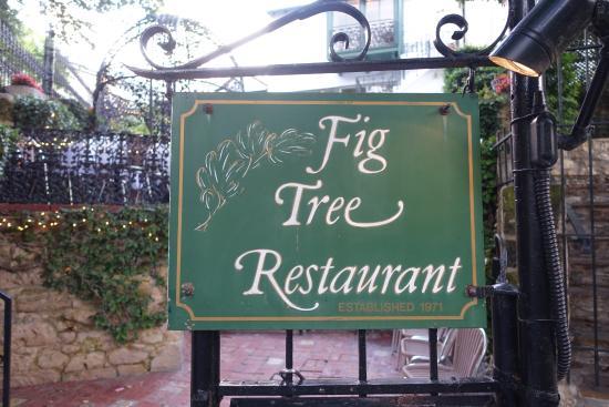 Fig Tree Restaurant: Restaurant Sign