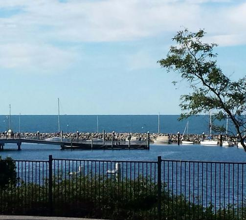Redcliffe, Australia: View from our table.