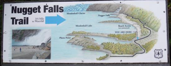 trail map Picture of Mendenhall Glacier Visitor Center Juneau